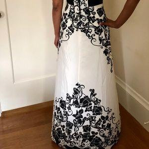 White House Black Market Dresses - Elegant Black and White Long Dress